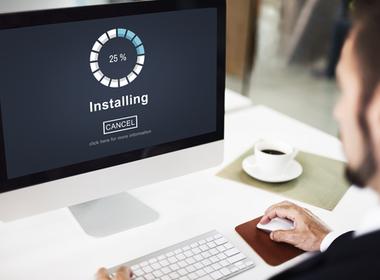 laptop loading software program